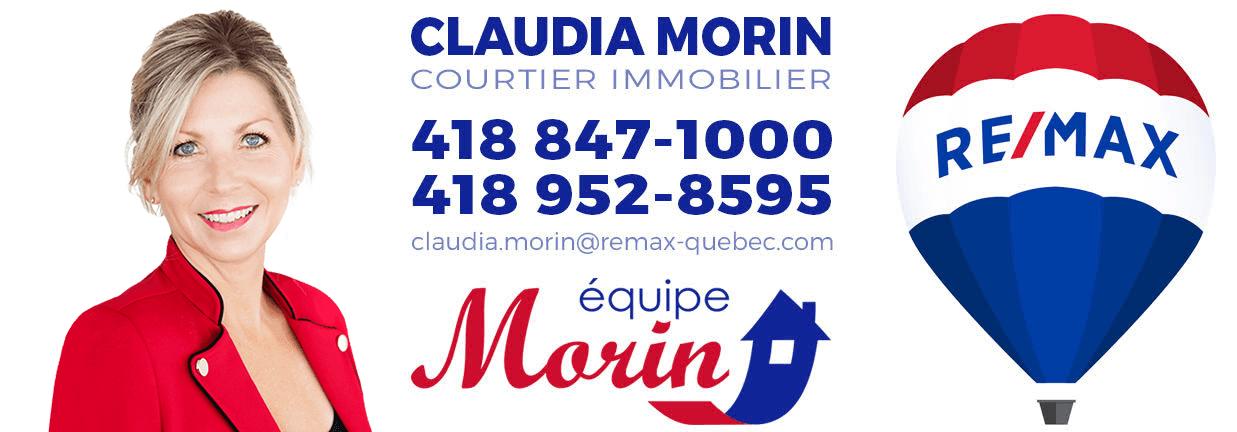 Claudia Morin courtier immobilier Remax à L'ancienne-Lorette