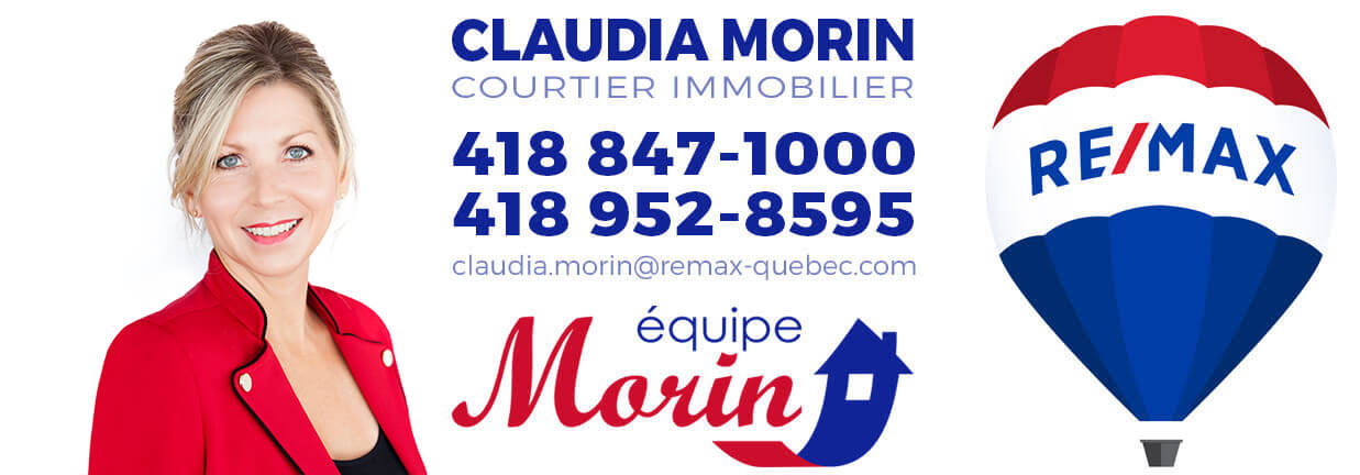 Claudia Morin courtier immobilier Remax à L'ancienne-Lorette 418-952-8595